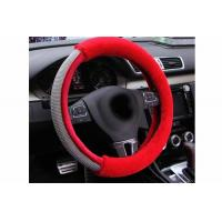 China Luxury Design Bling Bling Steering Wheel Cover With Durable Red Fur Material wholesale