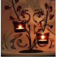 China European rural life decoration Wrought iron candlestick wholesale