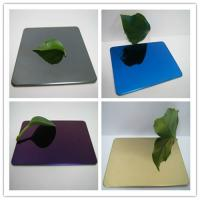 China 304 mirror color stainless steel sheet with colors ROSE, GOLD, BLACK, GREEN,BRONZE wholesale