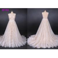 China Sexy Backless Female Wedding Dress Sleeveless Sequins Tulle Bright Lines And Chi Shapes wholesale