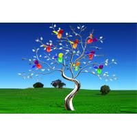 Buy cheap Garden Decor Colorful Painted Stainless Steel Tree Sculpture from wholesalers
