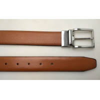 China Real Leather Reversible Buckle Belt Two Side Leather Belt Black and Brown Color wholesale