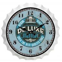 China New Sale Metal Beer Cap Wall Clocks Home Wall Art Latest Antique Beer Bottle Cap Novelty Wall Clock Decoration Custom wholesale