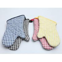 China Durable Pot Holder Gloves , Cotton Oven Gloves Good Water Absorbtivity wholesale