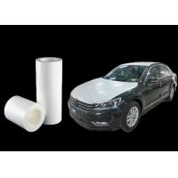 China Medium Adhesion Automotive Protective Film White Wrapping Paint 0.07mm Thickness wholesale