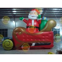China Giant Inflatable Balloon Santa Claus For Christmas Decoration on sale