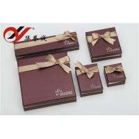 China Beautiful Bowknot Paper Jewelry Boxes Set Convenient Maintain For Jewelry Storage wholesale