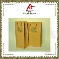 China Promotional Kraft Paper Carrier Shopping Bags With Twisted Paper Handle wholesale