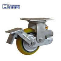 China Thread stem with brake furniture small PU Caster wholesale