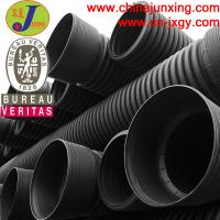 Quality HDPE large diameter corrugated drainage polyethylene pipe for sale