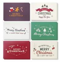 China Winter Holiday Greeting Cards , Retro Modern Design Merry Christmas Card wholesale