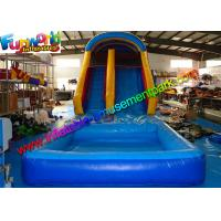 China Family Size Outdoor Inflatable Water Slide ,  Climbing Slide With Pool  For Kids wholesale