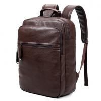 China Preppy Style Leather School Backpack Bag For College Simple Design Men Casual Daypacks mochila male New wholesale