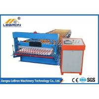 China GI GP Material Corrugated Sheet Roll Forming Machine , Corrugated Sheet Metal Machine wholesale