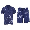 China Anti Pilling Mens Luxury Sleepwear Woven Cotton Poplin Printed Pajamas Shorts wholesale