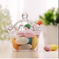China crown style sweet cake andy  chocolate food standard plastic packaging containers wholesale