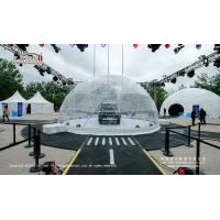 China Dia 5-40m Steel Frame Transparent PVC Exhibition Tent Geodesic Dome Tent wholesale