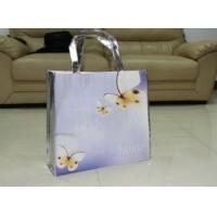 China Elegant Laminated Non-woven Shopping Bags / Small Square Suit Recycled Tote Bags With Handles wholesale