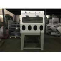China 4 Operating Holes Wet Blasting Cabinet 4kw Power Left Open Door Customized Color wholesale