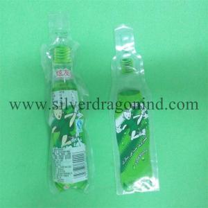 China 100ml Beverage Plastic bag with Bottle shape wholesale