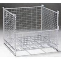 China Warehouse IBC Metal Cage Wire Storage Cage 800kg Load Weight Stackable Boxes wholesale