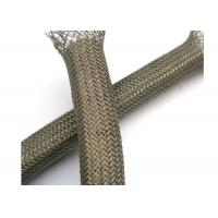 China Abrasion - Resistant Braided Shield Sleeve Tinned Copper For Grounding / Decoration wholesale