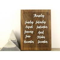 China Non Black Felt Menu Letter Board Solid Oak Wooden Message Board with Stand on sale