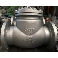 China ASTM A216WCB Material Swing Check Valve, DN300, PN25, DIN 3356, RF Flanged End on sale