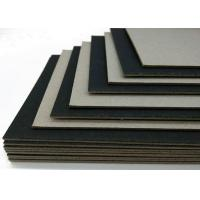 China Mixed Pulp High Stiff Black Card / One Side Laminated Black Paper Board wholesale
