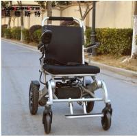 China Light Weight Aluminum Alloy Electric Folding Wheelchair For Travelling on sale