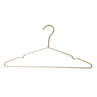 China Strong And Durable Slack Polished Economical Chrome Wire Hangers wholesale