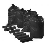 China Extra Strong HDPE Recyclable Garbage Bags Custom Printed Black Color on sale