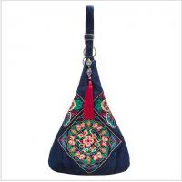 China Charming Embroidery Jean Women shoulder bag big size fashion messenger bag for women shopping and travel wholesale
