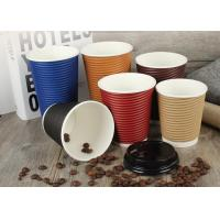 China Eco Friendly Paper Drinking Cup , Custom Takeaway Coffee Cups Shape OEM on sale