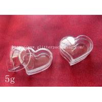China 5g fashional heart plastic empty clear jar nail art tool cosmetics container wholesale