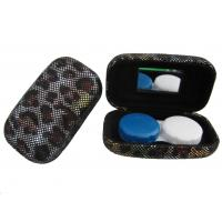 China Hard Creative Travel Contact Case With Cool Leopard Pattern Customized Logo wholesale