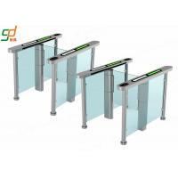China AC 220V Glass Electric Swing Gate Turnstiles 40 People / Min Normal Open wholesale