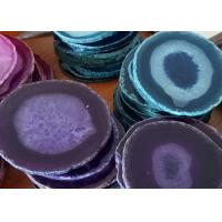 China CE Certificated Natural Stone Crafts Agate Stone Slice Tea Coasters wholesale