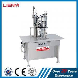 China 3 in 1 Full Pneumatic Aerosol Filling Machine Aerosol Cans Filling Machine wholesale