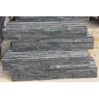 China Black Quartzite Mini Stacked Stone,Split Face Quartzite Stone Cladding,Quartzite Zclad Stone Veneer,Stacked Stone wholesale