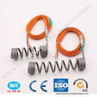 China Hot runner electric coil spiral e nail heater hot runner nozzle with thermocouple on sale