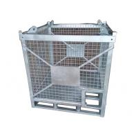 China 1500KG Capacity Steel Cage Box Hot Galvanized Mesh Cages For Storage wholesale