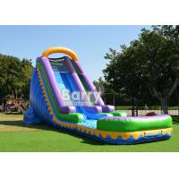 China Outdoor Commercial Inflatable Water Slides With Pool For Backyard Party on sale