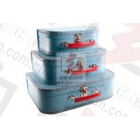 China Bule Printed Extra Large Gift Boxes With Lids Clothing Packaging wholesale