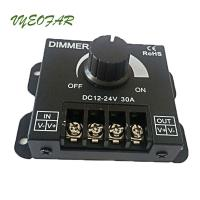 China 30A LED Dimmer 12V 24V 720W Big power For Led Single Strip Switch Knob controller wholesale