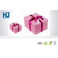 China Beautiful eco - friendly Cardboard Gift Packing Boxes with Lid For Scarves wholesale