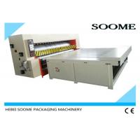 China Economical Type Corrugated Packaging Machinery , Semi Auto Die Cutting Machine Chain Rotary Roller on sale