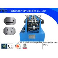 China Automatic C Z Purlin Roll Forming Machine 1.5 - 3.0mm Thickness wholesale