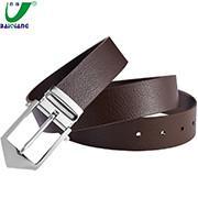 China Custom Logo Printing Designer Large Brown Mens Luxury Leather Dress Formal Belts for Men wholesale