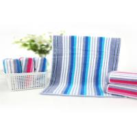 China 32 Strand Striped Baby Face Washers And Towels , Newborn Baby Towel High Density wholesale